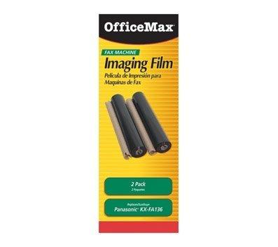 OfficeMax KX-FA136 Compatible Panasonic Fax Refill Rolls, Black, 2-Pack
