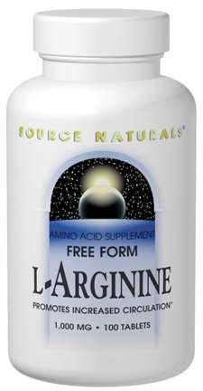 Source Naturals L-Arginine 1000mg 100 Tab