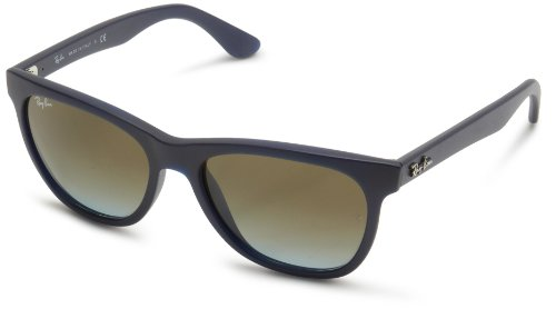 Ray-Ban RB4184 - MATTE BLUE Frame CRYSTAL BLUE FADED BROWN Lenses 54mm Non-Polarized