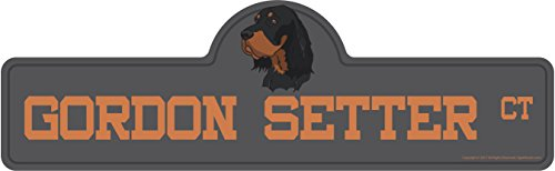 Gordon Setter Street Sign | Indoor/Outdoor | Dog Lover Funny Home Décor for Garages, Living Rooms, Bedroom, Offices | SignMission personalized gift | 20