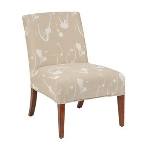 Bailey Street 6080561 Pelina - Slipper Chair Cover, Natural Wood Finish with Cream Fabric Shade (Slipper Chair Covers compare prices)