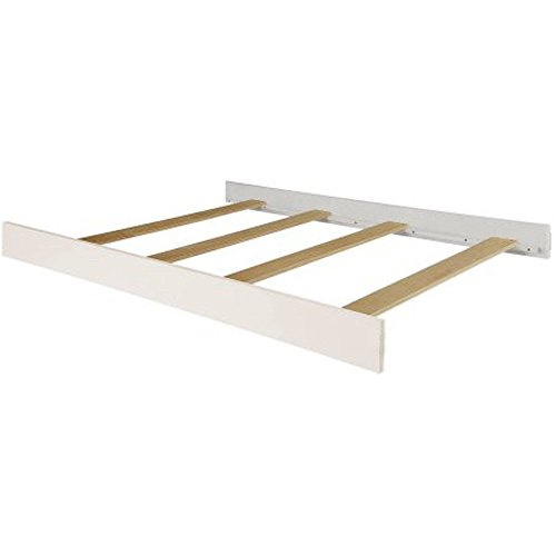 Solid Wood Full Size Conversion Kit Bed Rails for Baby Cache Cribs - (White Glazed Cover)