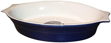 Amazon Com Euro Ceramica Inc Claudia Medium Oval Baker 9 75 Blue Kitchen Dining