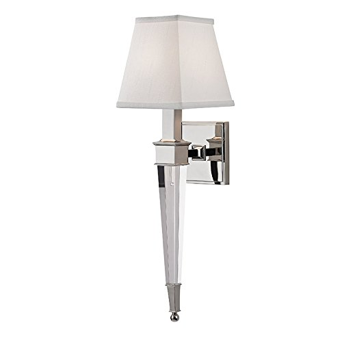 Hudson Valley Lighting 2401-PN One Light Wall Sconce from The Ruskin Collection, Polished Nickel