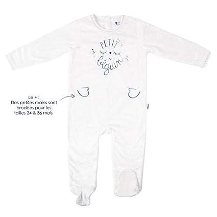 Pyjama bébé extra doux double épaisseur bleu Petite Star - Taille - 3 mois (62 cm) Petit Béguin