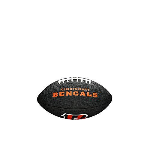 NFL Team Logo Mini Football, Black - Cincinnati Bengals