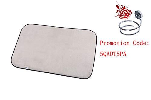 SILOKO Non-Slip Washable Soft Flannel Bath Mat 20-Inch by 32-Inch Gray