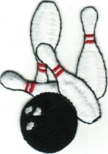 Bowling - Pins & Bowling Balls - Embroidered Sew or Iron on Patch