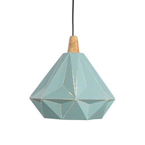 - Geometric Pendant Light, Bedroom Ceiling Lamp Fixture Indoor Restaurant Tea Room Bar Counter Hanging Lamp Lantern Pendant Light Iron Art,Green