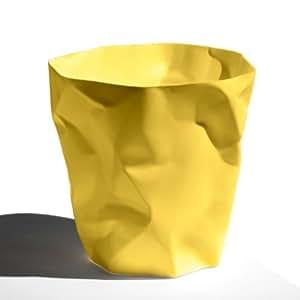 Pequeño y More Papelera Cubo de basura Bin Bin Amarillo