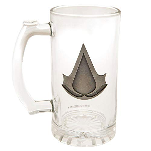 Assassins Creed Glass Tankard (One Size) (Clear) (Best Creed For Winter)