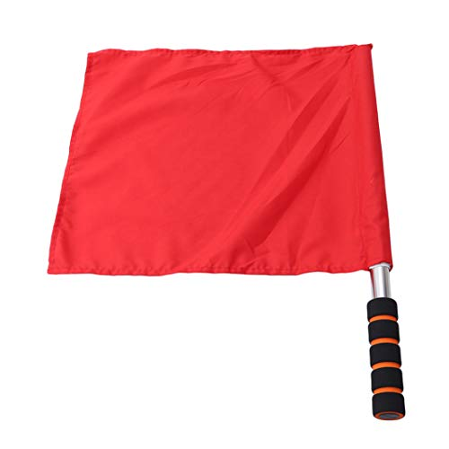 (YouCY Referee Football Flag Soccer Referee Flag Linesman Flag Athletic Competition Hand Flag Track and Field Sports Training Flag,Red)
