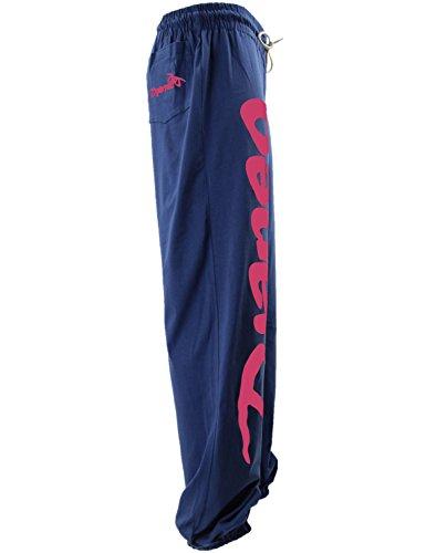 Pantalones deportes algodón Rio Djaneo para hombres y mujeres en 35 colores azul marino y rosa