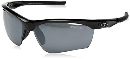 Tifosi Vero Wrap Sunglasses, Gloss Black, 63.8 mm by Tifosi (Image #1)