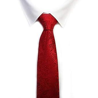 VIZENZO Corbata roja difuminada: Amazon.es: Ropa y accesorios