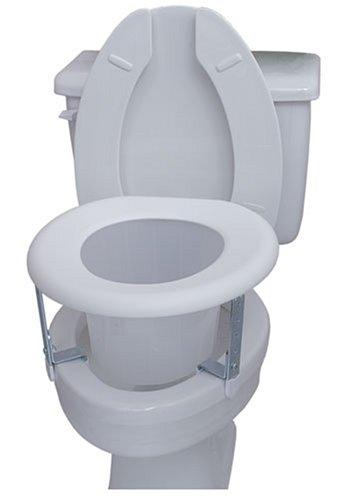 Duro-Med Universal White Plastic Raised Toilet Seat, White