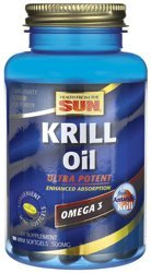 Omega-3, Krill Oil, Lemon Flavour, 90 Softgels by Health From the Sun /Arkopharma by Health From the Sun /Arkopharma