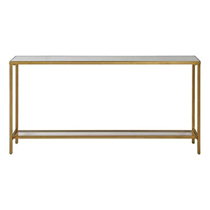 Beau Uttermost 24685 Hayley Console Table In Antiqued Gold Leaf