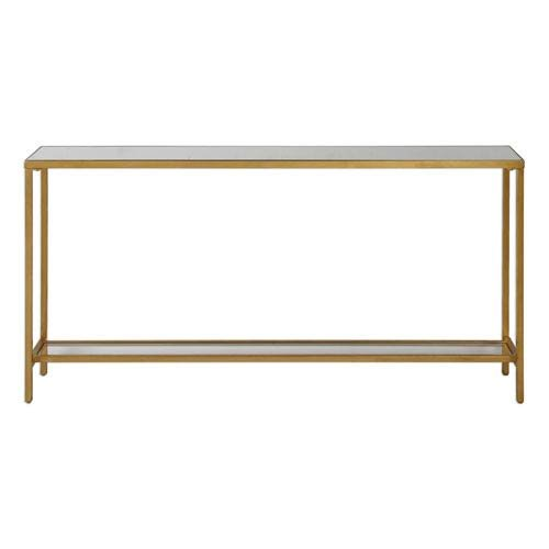 Uttermost 24685 Hayley Console Table in Antiqued Gold Leaf The Uttermost Company