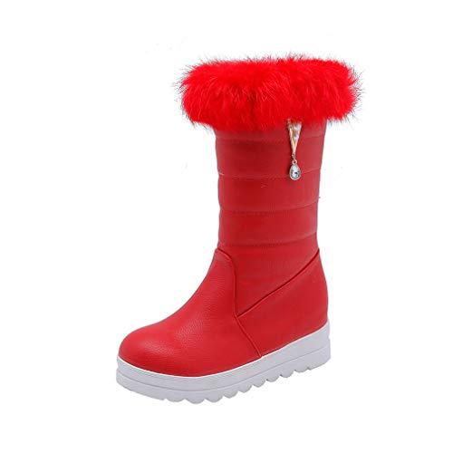 Parte Medias Botines Para Nieve Al Libre Aire zapatos Esquí Artificial Invierno Gran De Mujer Inferior 2018 Planos Gruesa Pu Botas Tamaño Calzado qaAvpp