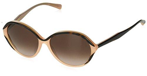 Vera Wang Women's V422 Round Sunglasses, Pink/Tortoise, 55 ()