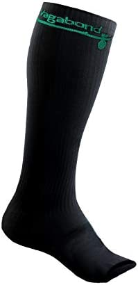 Vagabond 3XL and 2XL Wide Calf Toeless Compression Socks -15-20 mmHg for Fatigue Large Pain Black Comfy Compression Leg Swelling