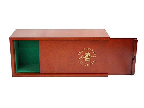 Mahogany Slide-Top Chess Box - by The House of Staunton
