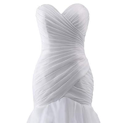 Wedding Dress Mermaid Bridal Dress Trumpet Wedding Gown for Women Ruffles at Women's Clothing store