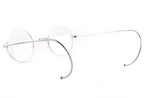 9900e577648 Agstum Retro Small Round Optical Rare Wire Rim Eyeglasses Frame