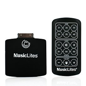 Sylvania 72469 MusicLites Transmitter for iPod/iPhone/iPad, Includes Remote Control