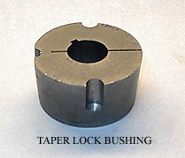 Bushing Taperlock 1/2 - Tsubaki (UST) 1615-1-1/2 - Taper-Lock Bushing - 1615 Series, 1.5000 in Bore, Finished with Keyway, 3/8 x 3/16 in Keyway, Steel