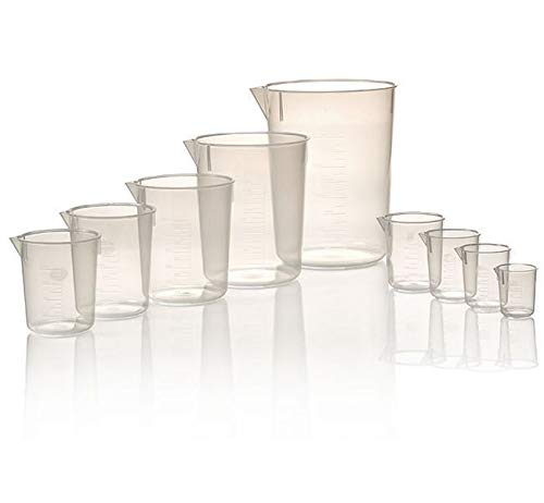 1205-0050 - Thermo Scientific Nalgene Economy, Polypropylene, Griffin Low-Form Plastic Beakers - Capacity : 50 ml - Case of 12