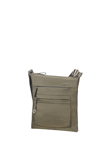 Samsonite Move 2 Mini Shoulder Bag iPad Borsa Messenger, 26 cm, Silver Green