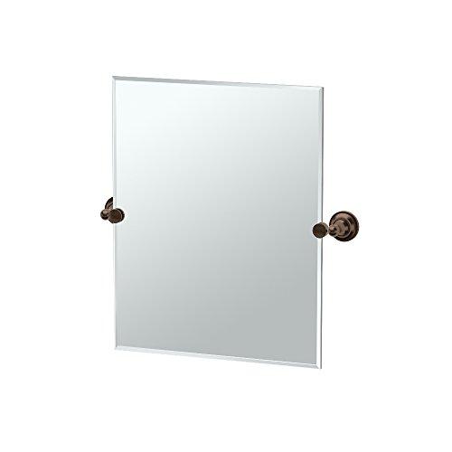 (Gatco 4349SM Tiara Small Rectangle Mirror, Bronze)