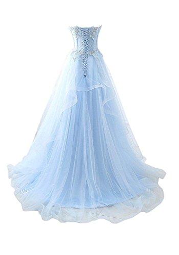 Yinyyinhs Habille Une Ligne Hérisse Robe Formelle Bleu Royal Longue De Demoiselle D'honneur Bustier Robe De Bal Du Soir Des Femmes