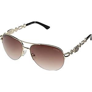 GUESS Factory Women's Chain Aviator Sunglasses