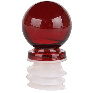 (Red Glass Bottle Stopper Wine Bottle Stopper)