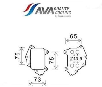 pe3396 Radiador Aceite, aceite motor (Ava)