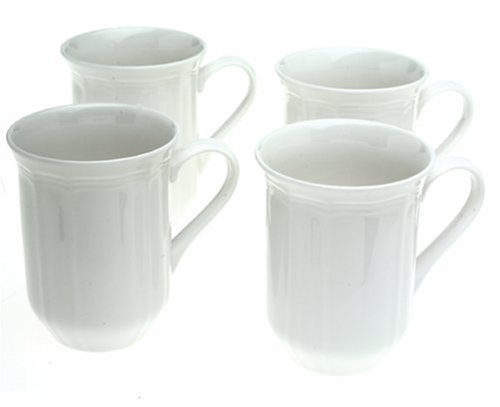 - Mikasa Antique White Coffee Mugs, Set of 4