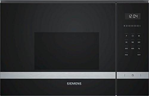 Opinión sobre Siemens BF525LMS0 Integrado Solo - Microondas (Integrado, Solo microondas, 20 L, 800 W, Botones, Tocar, Negro, Acero inoxidable)