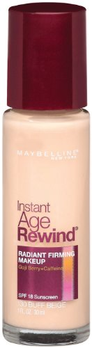 Maybelline New York Instant Age Rewind Radiant Firming Makeup, Buff Beige 130, 1 Fluid Ounce