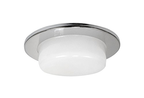 NICOR Lighting 4-Inch Drop Opal Shower Trim, Clear/Reflective (19510CL) ()