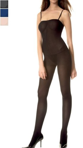 Opaque Spaghetti Straps Crotchless Bodystocking