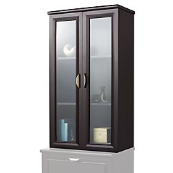 Realspace(R) Magellan Collection 2-Shelf Hutch With Doors, Espresso by Realspace