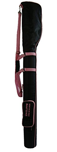 Mini Bag Black Range (K-Cliffs Driving Range Training Golf Bag Mini Course Practice Golf Bag Travel Case, Black/Pink)
