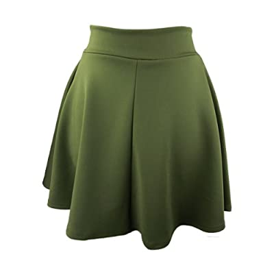 YogaColors Stretch Mini A-Line Skater Skirt at Women's Clothing store