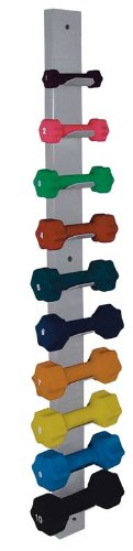 Dumbbell Wall Rack, Holds 10 Small (10# or Less) Weights by RiversEdge Products