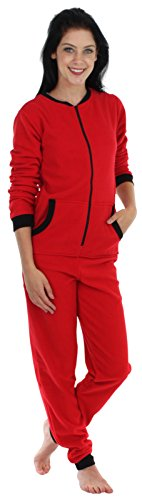 Sleepyheads Women's Sleepwear Fleece Non Footed Color Onesie Pajamas Jumpsuit (SH1018-4033B-SML)