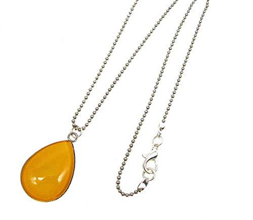 collier femme jaune moutarde