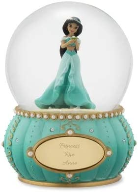 Things Remembered Personalized Jim Shore Disney Showcase Princess Jasmine Snow Globe with Engraving Included